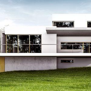 Kolejnym problem istniejącej kostki  był niekorzystny układ domu względem stron świata. Architektom zależało na zaprojektowaniu strefy dziennej otwartej na północny ogród, ale jednocześnie doświetlona od strony południowe Wiz. BXBstudio Bogusław Barnaś