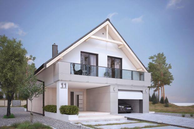 Amarylis 4 to jednorodzinny, podpiwniczony projekt domu z użytkowym poddaszem idealny na wąską działkę.