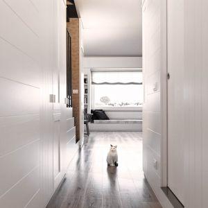 GW niższej kondygnacji mieszkalnej znalazły się: łazienka dla gości, nowe schody, pralnia i część kuchni. Fot. Ritmonio