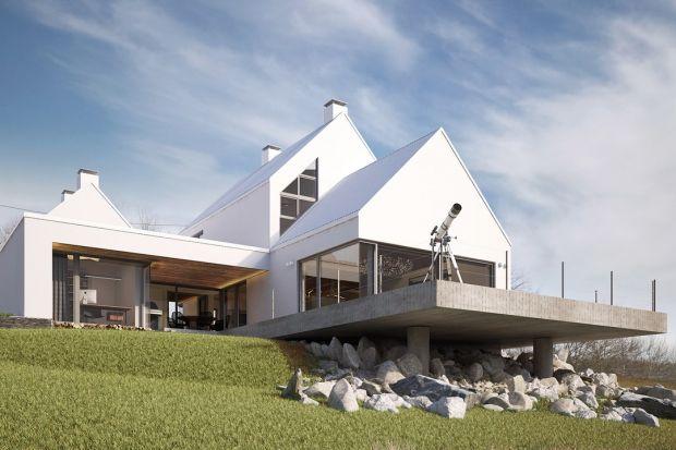 Dom Rozcięty - nowoczesny, otoczony pięknym małopolskim krajobrazem