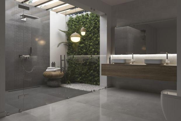 Ciemny odcień łazienki