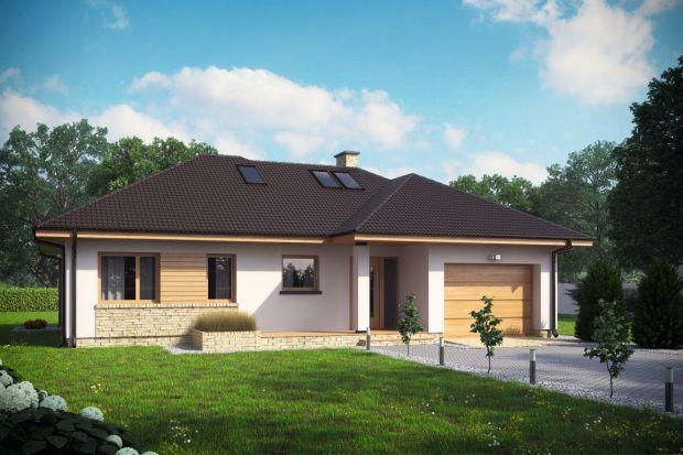 D216B to niewielki dom parterowy zpoddaszem użytkowym oraz garażem. Idealny dla 3-5-osobowej rodziny.