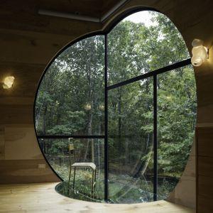 Przeszklenia zostały tak zaprojektowane i rozmieszczone przez architektów ze studia Steven Holl Architects, żeby użytkownicy czuli nieustanny kontakt z otaczającą ich przyrodą. Fot. Paul Warchol