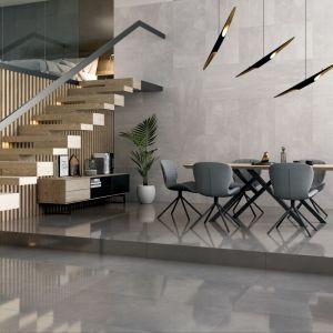 Kolekcja Space o powierzchni przypominającej beton, podkreśli styl wnętrza, szczególnie sprawdzając się np. w aranżacjach loftowych. Fot. Ceramika Paradyż