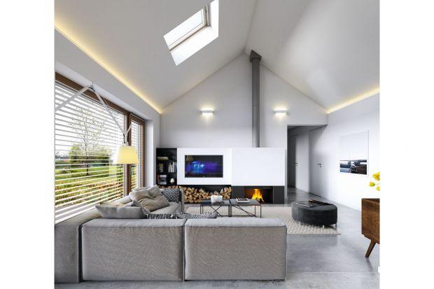 Komfortowe wnętrze domu parterowego