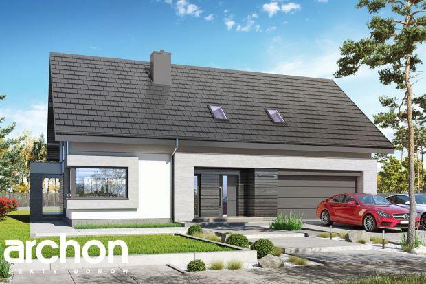 Nowoczesny dom z poddaszem użytkowym i dwustanowiskowym garażem. Zobacz projekt
