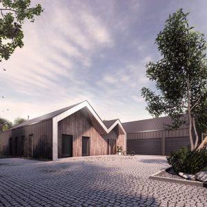 Dzięki zaprojektowaniu konstrukcji dachu skośnego w technologii powłoki żelbetowej możliwe było dowolne uformowanie kształtu i zakresu wysięgu pokrycia. Fot. Galeco, Mateusz Niepokój