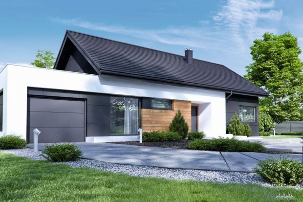 Nowoczesny dom (99,80 m kw.) parterowy z garażem