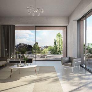 Wybierając projekt domu z wielkoformatowymi przeszkleniami, warto zwrócić uwagę na stolarkę aluminiową, która łączy nowoczesny, wręcz panoramiczny design, z dobrymi parametrami izolacyjności termicznej. Fot. Schüco