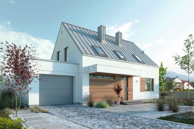 Projekt nowoczesnego domu (107,40 m kw.) z poddaszem użytkowym i garażem