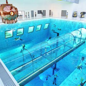 Zbiornik pomieści 8 tysięcy metrów sześciennych wody - 27 razy więcej wody niż standardowy 25-metrowy basen. Fot. Deepspot