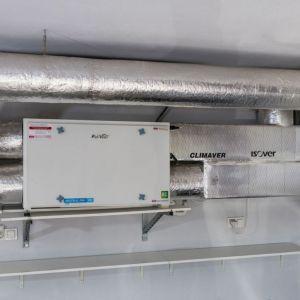 Krok 1. Filtr Clean R należy montować za rekuperatorem, na kanale nawiewnym. Fot. Pro-Vent