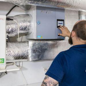 Krok 7. Po dopełnieniu wcześniejszych czynności należy uruchomić filtr CLEAN R i skalibrować. Fot. Pro-Vent