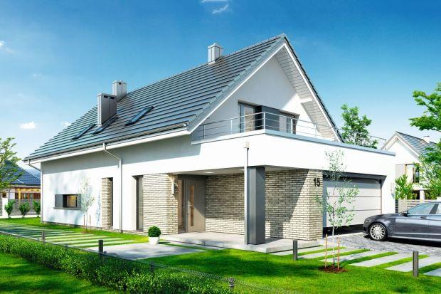 Projekt nowoczesnego domu (158,62 m kw.) na wąską działkę