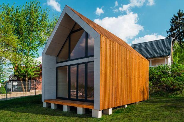 Projekt drewnianego domu o powierzchni 53,07 m kw.