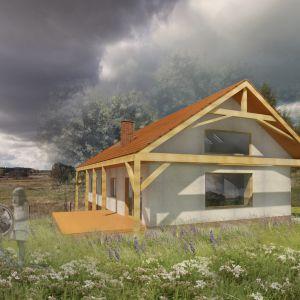 Dom naturalny w technologii strawabale - konstrukcja drewniana wypełniona słomą. Fot. eKodama