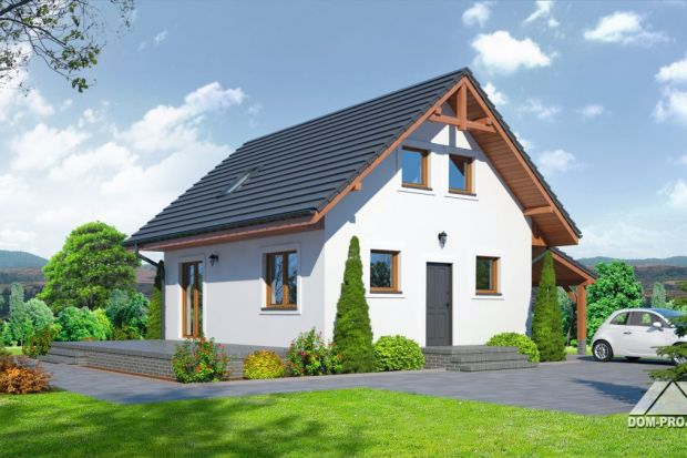 Projekt małego domu, taniego w budowie i eksploatacji