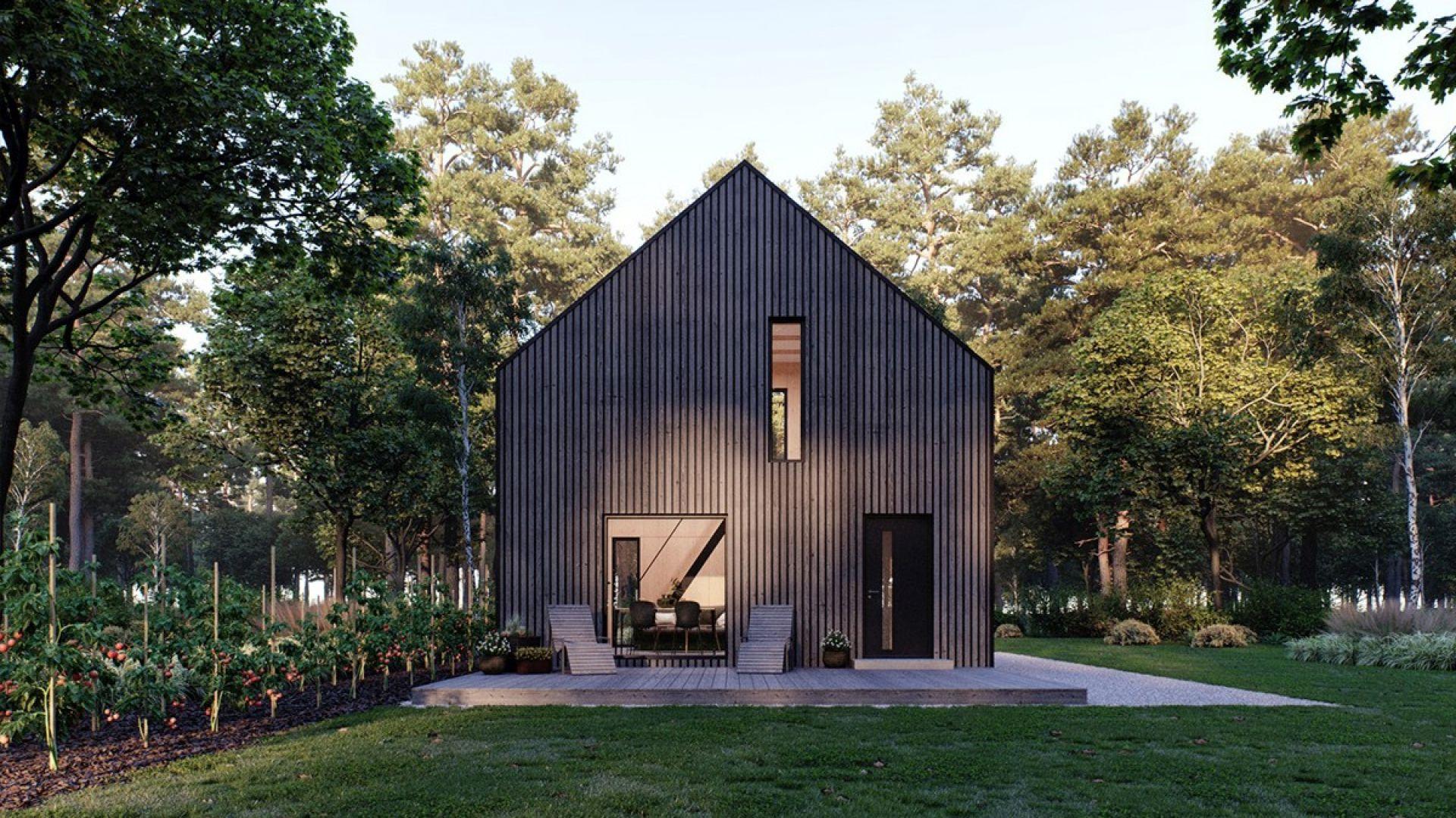 Modulo House to mały i tani w budowie oraz eksploatacji dom o wymiarach 7,1 m na 4,9 m (35 m2 zabudowy) o wysokości kalenicy 7,5 m. Fot. Modulo