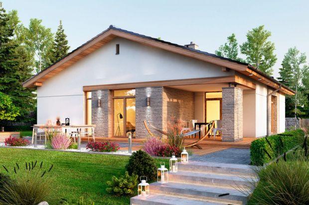Projekt domu (110,80 m kw.) parterowego z garażem i tarasem