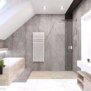 W łazience znalazło się miejsce na kabinę prysznicową i wannę. Fot. HomeKONCEPT