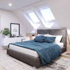 """W sypialni również nie brakuje okien, które """"dostarczają"""" naturalne światło. Fot. HomeKONCEPT"""