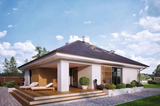 Projekt domu (148 m kw.) z poddaszem użytkowym i garażem