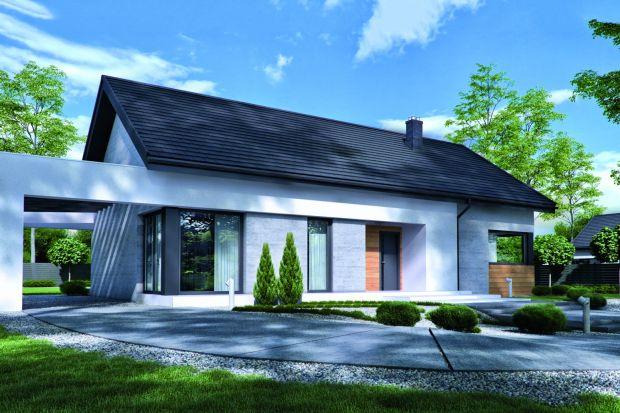 Projekt nowoczesnego domu parterowego o powierzchni 108,66 mkw.