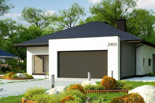 Projekt domu (148 mkw.) parterowego z garażem na dwa samochody