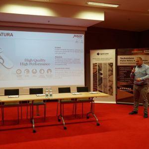 Dawid Pałba z firmy Jaguar. Fot. SDR