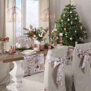 Szarfa na krzesło Christmas. Fot. Dekoria