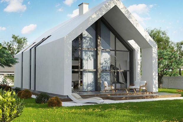 """Mały, nowoczesny dom """"stodoła"""". Zobacz projekt"""