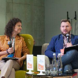 Mirella i Marcin Kępczyńscy. Forum Dobrego Designu 2019. Fot. Paweł Pawłowski