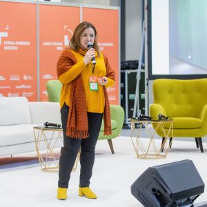 Barbara Łukasiak. Forum Dobrego Designu 2019. Fot. Piotr Waniorek