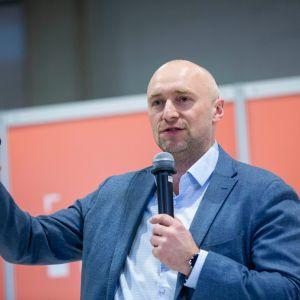 Tomasz Kwarta. Forum Dobrego Designu 2019. Fot. Piotr Waniorek