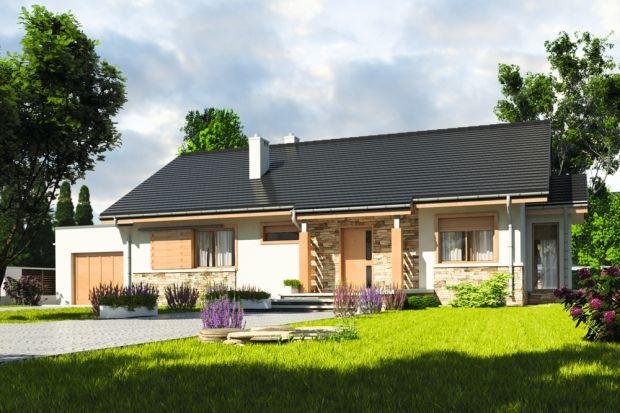 Projekt domu parterowego o powierzchni 105 mkw.