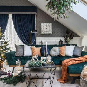 Salon udekorowany na Święta. Meble z kolekcji Nicea. Fot. Gala Collezione