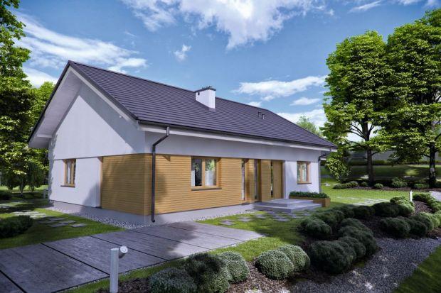 Projekt małego domu parterowego z dwoma tarasami