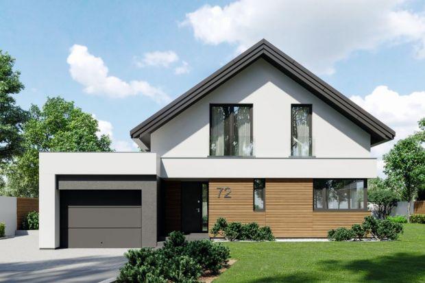 Projekt HomeKONCEPT 72 to nowoczesny dom jednorodzinny z poddaszem użytkowym i atrakcyjnym układem funkcjonalnym.