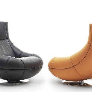 Obrotowy fotel DS-1666 projektu Hugo de Ruiter, z możliwością regulacji wysokości. Dostępny w obiciu ze skóry. Cena: około 17.500zł. Fot. De Sede