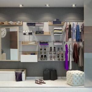 Garderoba Slot by Vox. To modułowy system garderobiany, który można rozbudowywać w zależności od potrzeb oraz wielkości pomieszczenia. Fot. Vox