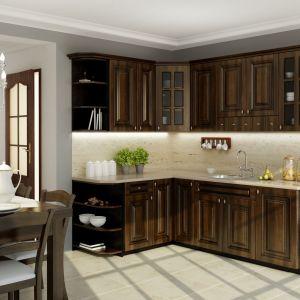 Kuchnia Toskania wykonana jest z litego drewna. Fot. Mebin