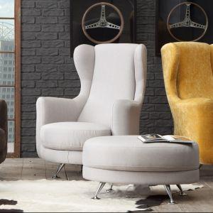 Zaokrąglona wersja tradycyjnego fotela z uszami to model Perkoz z oferty Almi Decor. Cena: ok.1800 zł. Fot. Almi Decor