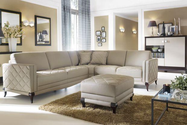 Sofa glamour - pikowana lub w błyszczącej tkaninie