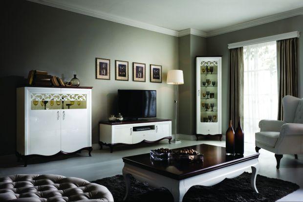 """System meblowy """"Milano"""" to kompleksowe wyposażenie salonu, jadalni, sypialni i innych pomieszczeń mieszkalnych."""