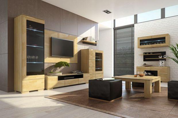 Drewno w salonie sprawia, że całe pomieszczenie staje się ciepłe i przytulne. I wcale nie trzeba mieć kominka, aby w salonie był gorący klimat.