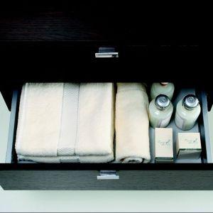 Szafka podumywalkowa Disegno Ceramica/Coram Poland wyposażona jest w dwie szuflady z systemem cichego domykania. Fot. Disegno
