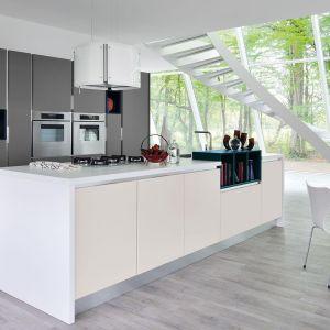 Kuchnia Essenza oparta jest na połączeniu bieli z szarością. Fot. Lube
