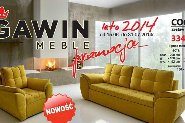 Lato 2014 - to promocja na Meble marki Gawin, która trwa od 15 czerwca do 31 lipca 2014 roku. Upustem objęto wiele nowości meblowych.