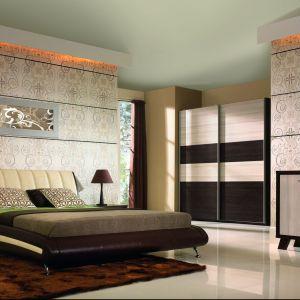 Łoże Lido BogFran z tapicerowanym wezgłowiem ma bardzo nowoczesną formę i modny design. Ok. 1.500 zł. Fot. BogFran.