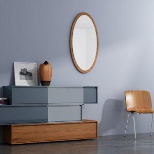 """Komoda """"Dina"""" marki Rosa Nero. To doskonały przykład zastosowania geometrii w meblach. Ponadto niezwykle efektowne jest połączenie lakierowanych powierzchni z naturalnym drewnem. Fot. Rosa Nero."""